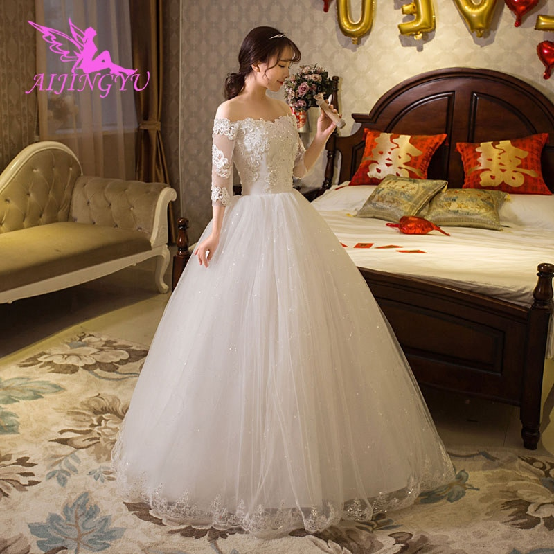 AIJINGYU-فساتين زفاف طويلة ، فستان تخرج ، WU279 ، 2021