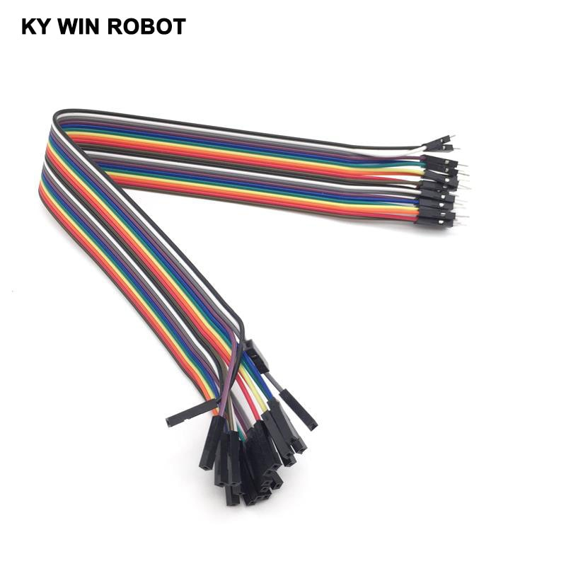 DuPont line 20pcs 30cm 2.54mm 1p-1p Pin Female to Male Color Breadboard Cable Jump Wire Jumper For Arduino