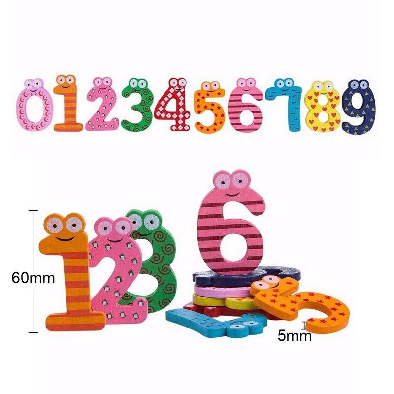 B 10 uds, pegatinas bonitas para nevera, pegatinas con imán de dibujos animados, números, juguetes educativos para niños, pegatinas con imán para nevera y alfabeto
