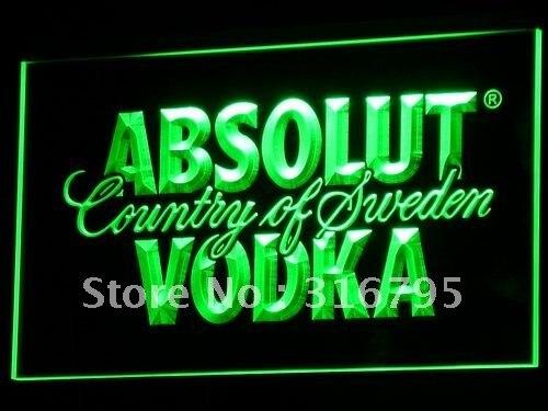 Signos de luz de neón LED a025 Absolut Vodka Country of Suecia con interruptor de encendido/apagado 20 + colores 5 tamaños para elegir