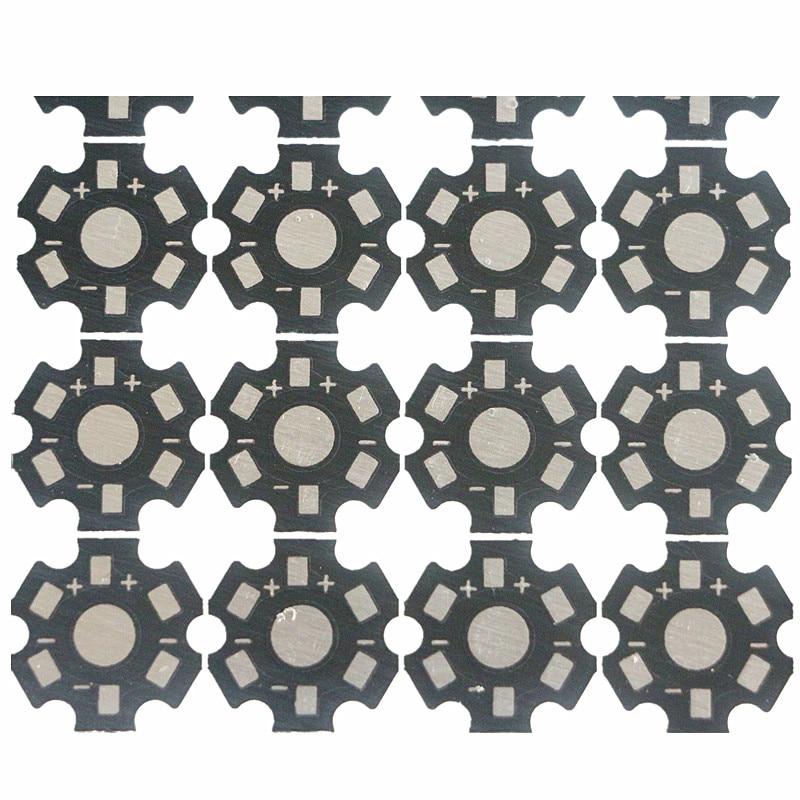 1W 3W 5W Heat Sink LED Aluminum Base Plate PCB Board Substrate 20mm Star Kit DIY Cooling Heatsink for 1 3 5 Watt LED Bead Chips
