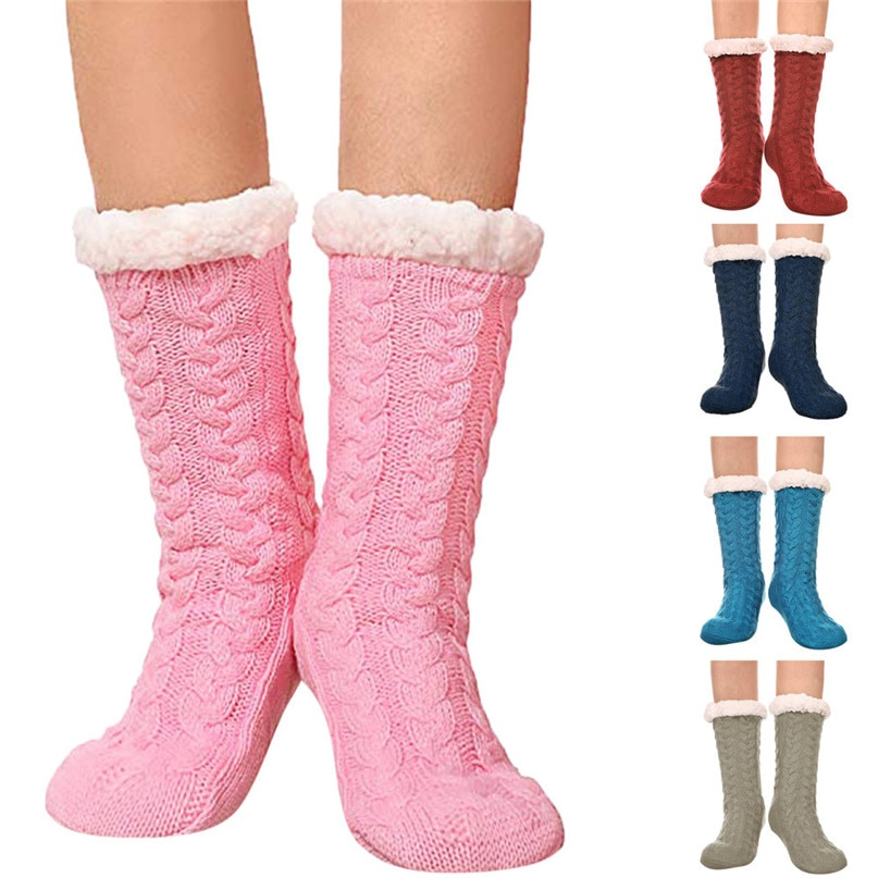 Зимние теплые лыжные носки для мужчин и женщин толстые хлопковые спортивные