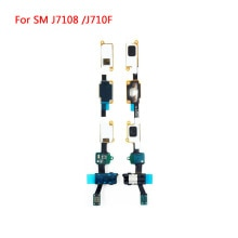 For Samsung Galaxy J7 J710F 2016 Audio Headphone Jack Menu Home Button Flex Cable