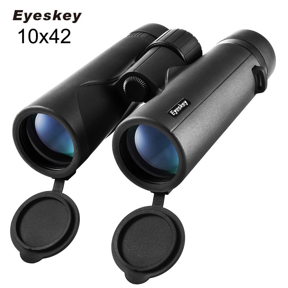 Eyeskey, prismáticos impermeables 10x42 IPX7, prismáticos Bak4, telescopio de alta potencia para acampar, cazar y exteriores, 2 colores