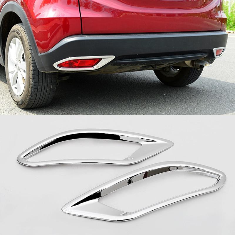 For Honda Vezel HR-V HRV 2014-2018 ABS Chrome Car rear fog lampshade Cover Trim Bumper Molding Garnish Styling accessories 2pcs