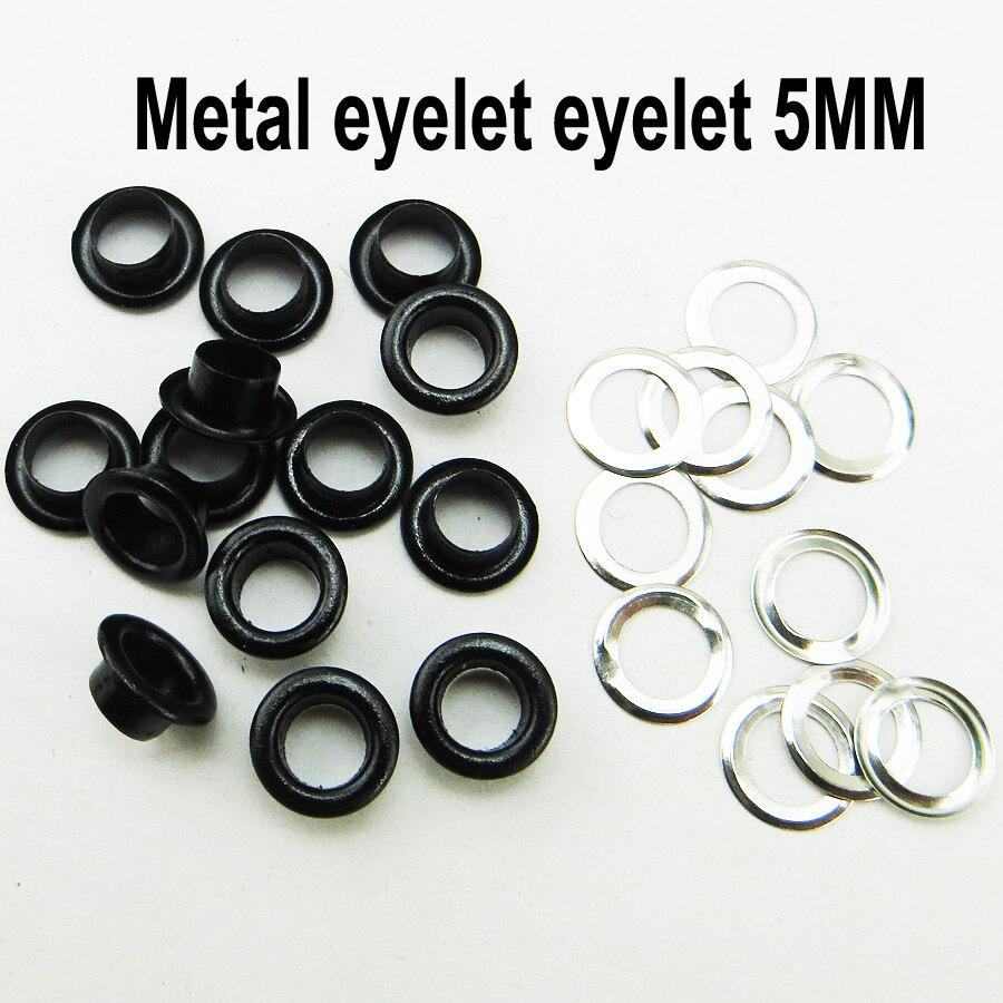 200 Uds 5MM negro cara ojal botón accesorio de coser ropa botones shose ojales ME-021