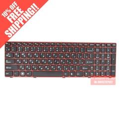 Ru russo para lenovo z580 z580a g580 g585 v580 z585 teclado cor vermelha