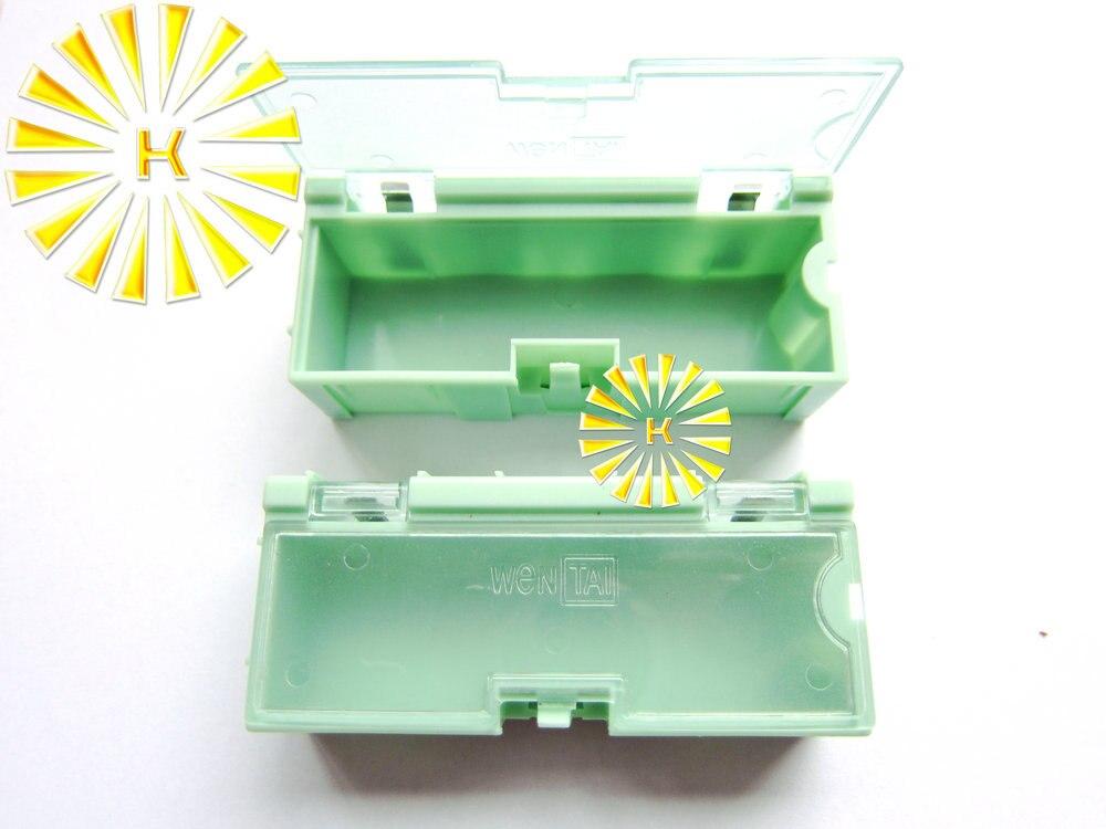 50 قطعة x #2 اللون الأخضر مكثف المقاوم SMT المكونات الإلكترونية صندوق تخزين صغير العملي صندوق تخزين المجوهرات