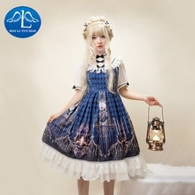 Gothic Lolita Dress Short Sleeve Dresses Girls JSK Princess Victorian Dress Sweet Lolita Dress Fairy Kei Lolita