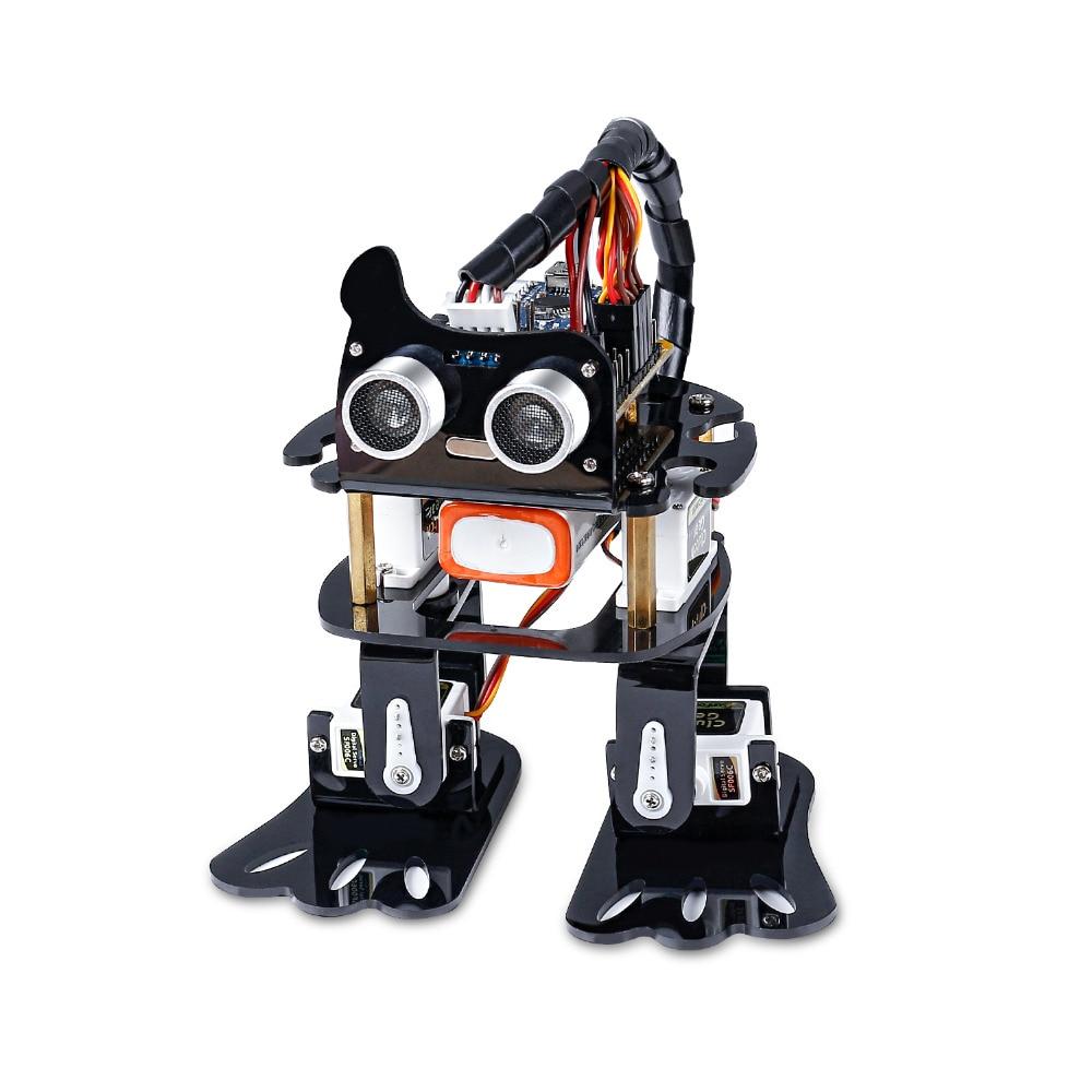 SunFounder لتقوم بها بنفسك 4-dof روبوت عدة-طقم تعلم الكسل لاردوينو نانو لتقوم بها بنفسك روبوت للأطفال والكبار مع البرنامج التعليمي