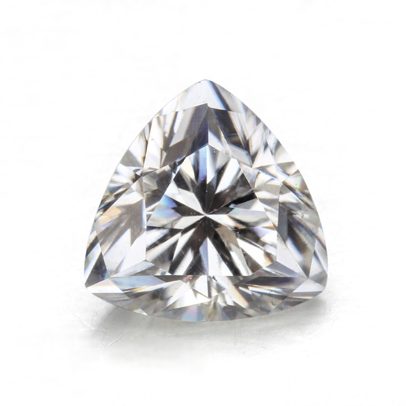 Cheestar-أحجار مويسانيتي فضفاضة على شكل مثلث ، 10 × 10 مللي متر ، أحجار كريمة مويسانيتي ، جودة عالية