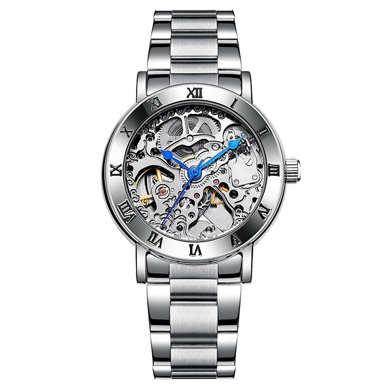 Reloj de lujo de marca IK para mujer, reloj automático resistente al agua, reloj de esqueleto, reloj mecánico para mujer