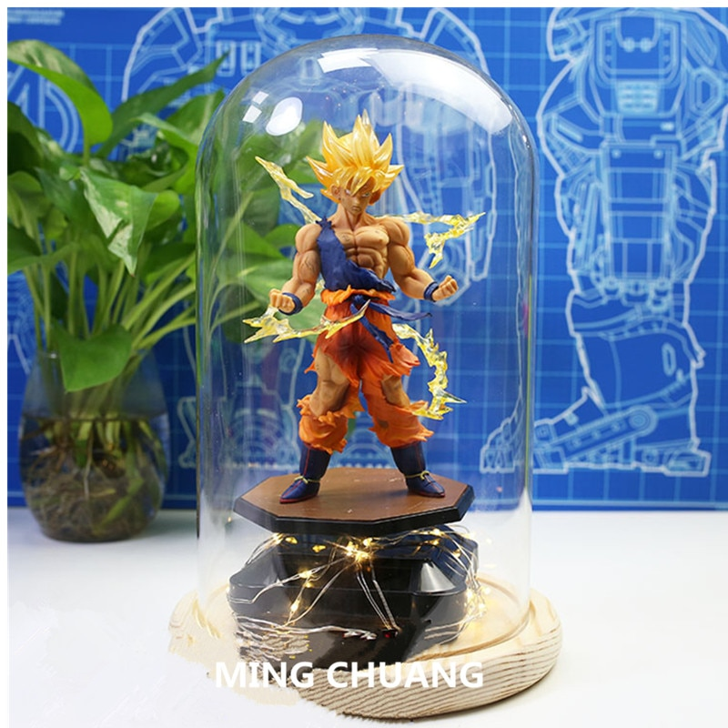 Dragon Ball Z Super Saiyan Son Goku Con La Luce del LED Kakarotto Tianxia DBZ regalo Di Natale PVC Action Figure Toy BOX d788