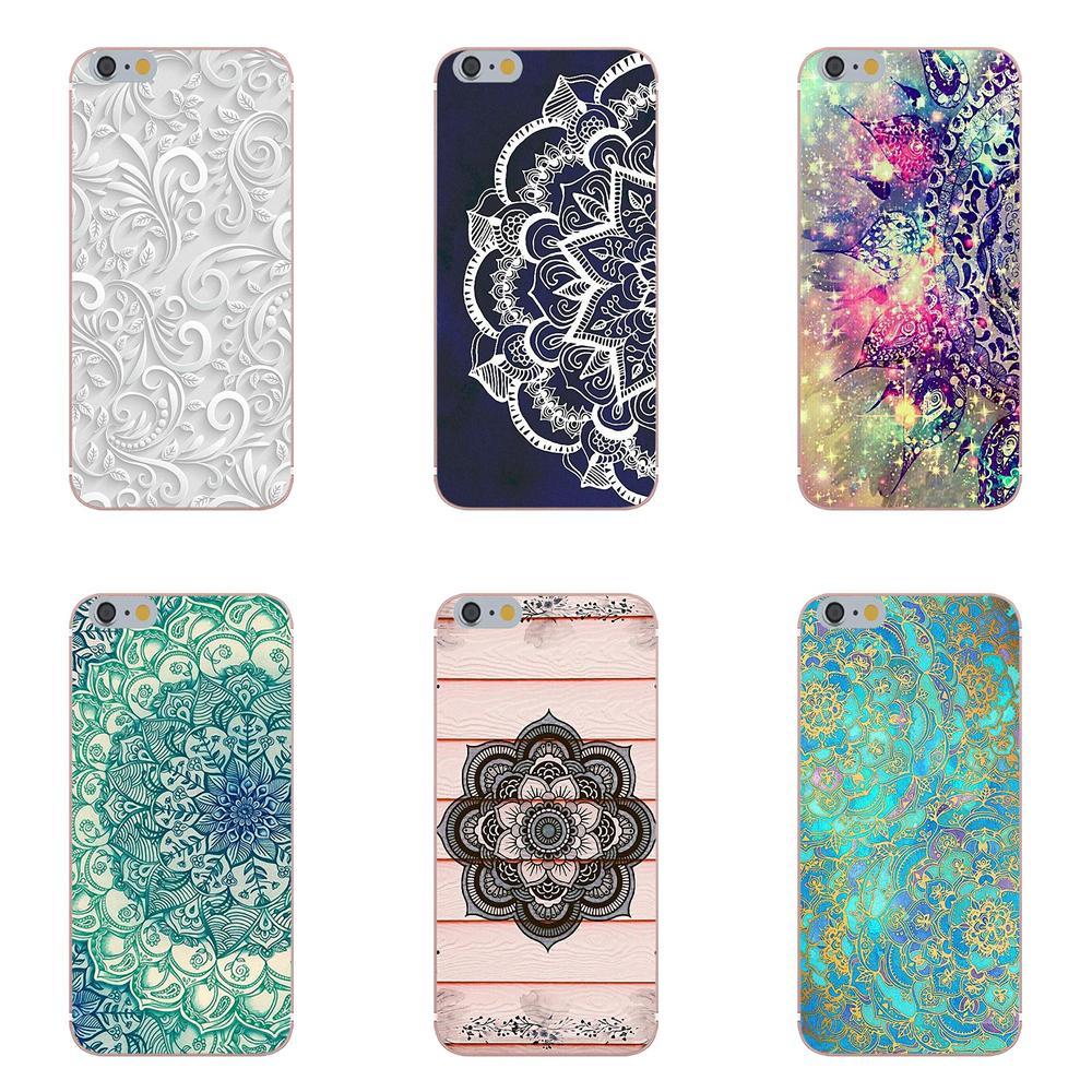 Oedmeb Pour Xiaomi Mi6 Mi 6 A1 Max Mix 2 5X 6X Redmi Note 5 5A 4X 4A A4 4 3 Plus Pro TPU Housse Floral Mandala Mandara