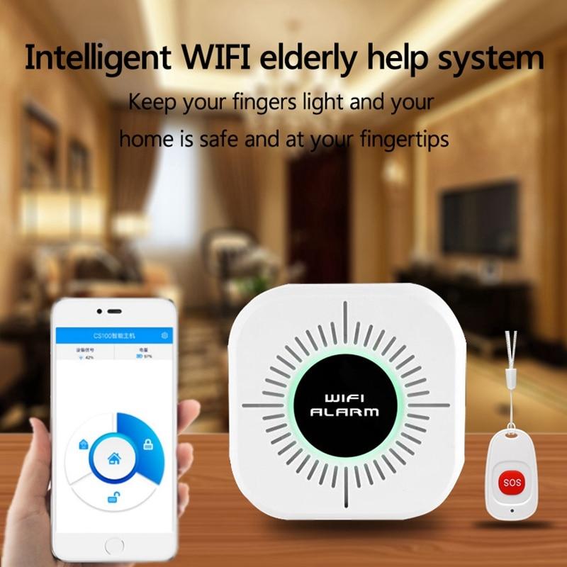 Drahtlose Pflegeperson Alert System Patienten Sos Rufen Taste Ältere Helfen Pager Notfall Alarm Home Security Smart Telefon App Contr