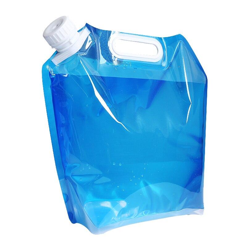 Botella de agua portátil al aire libre 5L 10L bolsa de agua plegable suave camping botellas de barbacoa
