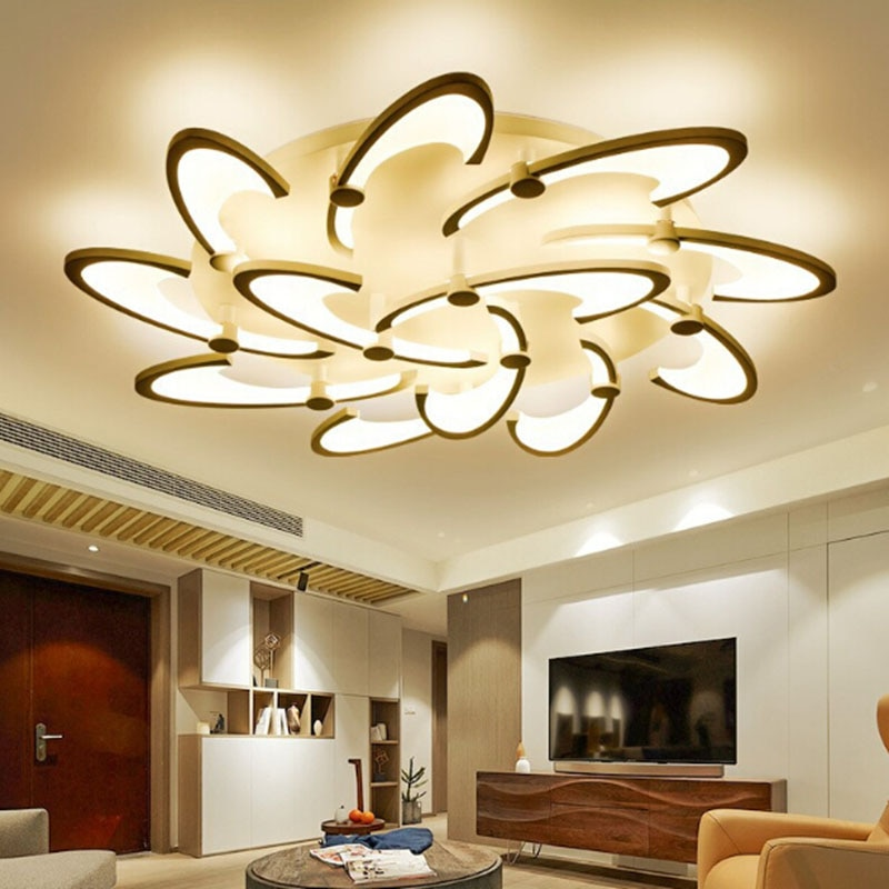 Lámpara de techo para dormitorio con diseño moderno de acrílico, lámpara de techo para salón, iluminación LED para el hogar, accesorios de iluminación plafonnier