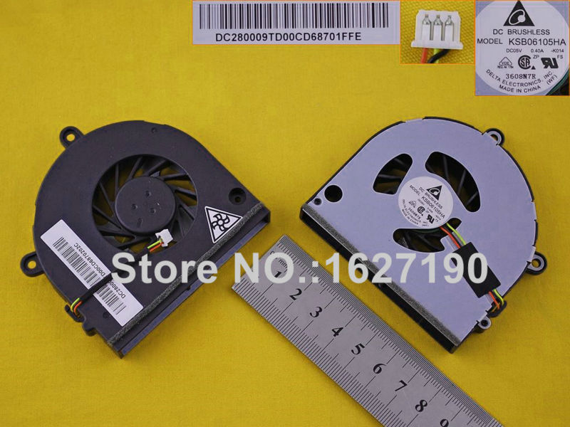 Новый охлаждающий вентилятор для ноутбука TOSHIBA Satellite P775 (3Pin) PN: KSB06105HB DC280009UD0 (DC05V 0.40A) MF60090V1-C262