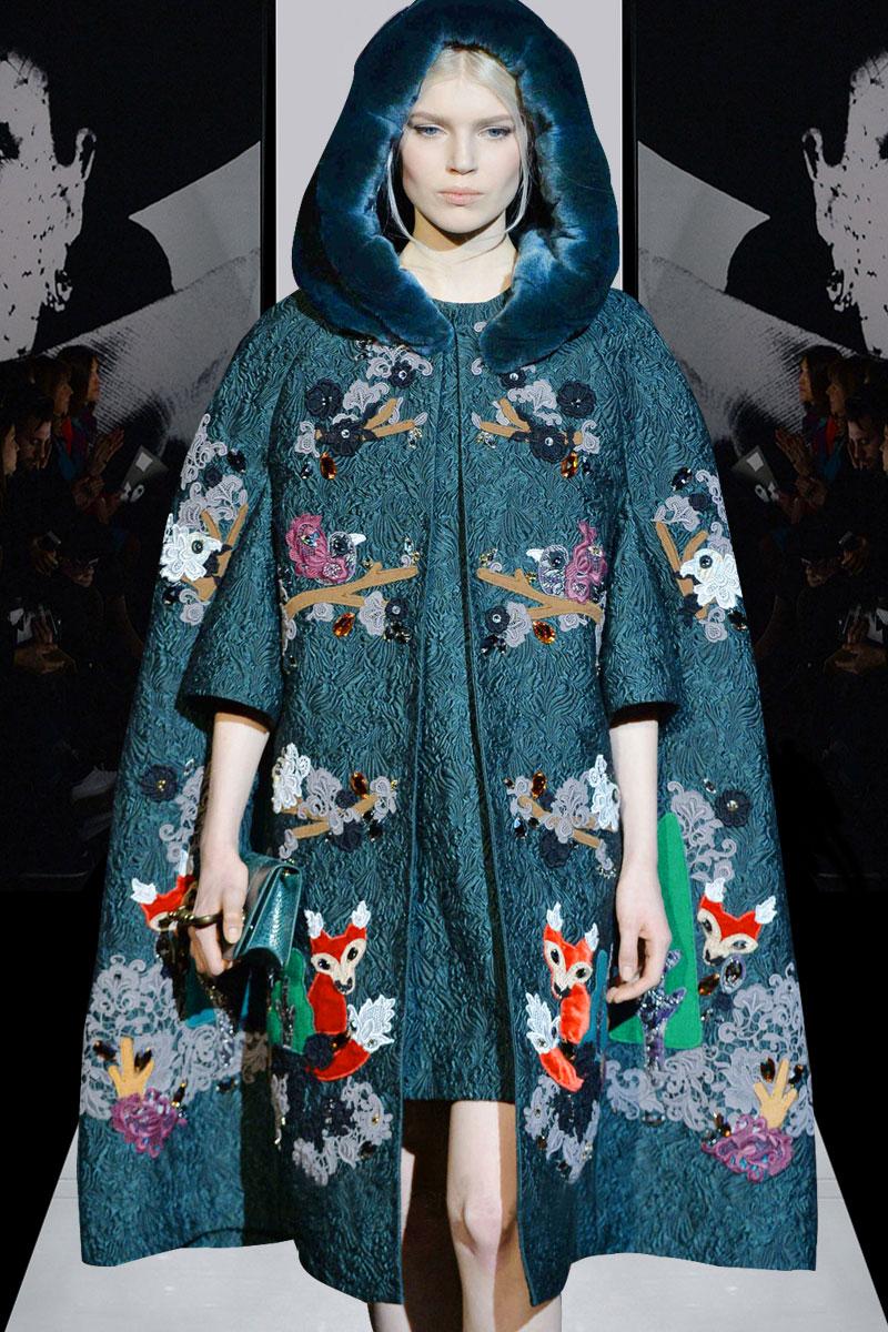 See Orange Autumn Winter Otter's Rabbit Hair Cape Jacquard Coat Dress 2 Piece Set Handwork Embroidery Suits
