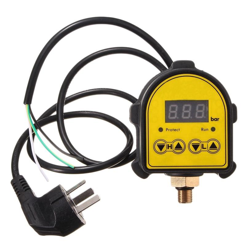 Gtbl digital automático bomba de ar compressor de óleo água controlador de pressão interruptor para a bomba de água ligar/desligar au plug