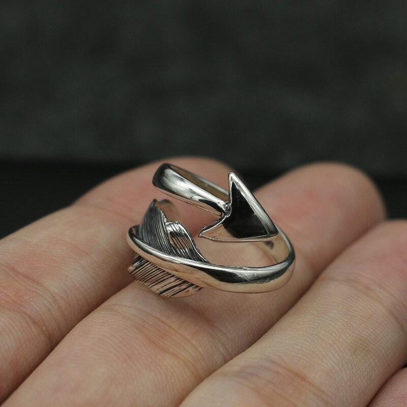 Мужское кольцо Takahashi Kagura Goro из стерлингового серебра ручной работы с открытым концом, модное ретро тайское серебряное ювелирное изделие