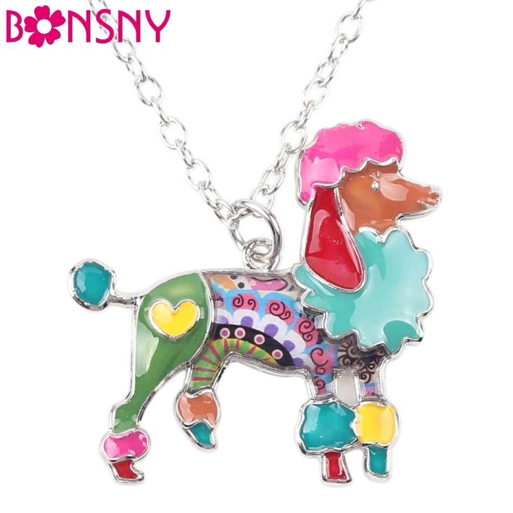 Подвеска для ожерелий Bonsny, из эмалированного сплава с цветами, подвеска для собак, ошейник, новинка, украшения для животных для женщин, для д...