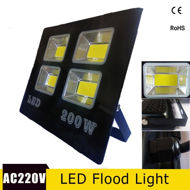 Ultra Dünne LED Flutlicht 220 V Focos Led Außen Wasserdichte IP65 200 w 150 w 100 w 50 w led-strahler Refletor Outdoor Wand Lampe