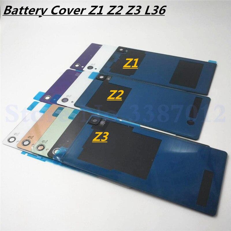 Задняя дверь батарея задняя крышка стекло замена крышка чехол для Sony Xperia Z L36H Z1 Z2 Z3 Z3 Compact крышка батареи с логотипом