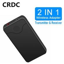 Receptor Bluetooth CRDC, transmisor 4,2, receptor de Audio inalámbrico Bluetooth, adaptador auxiliar de coche de 3,5mm para auriculares de altavoz de TV de coche