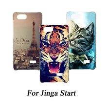Мягкий чехол для телефона из ТПУ для Jinga Start, силиконовые чехлы с изображением волка розы, Эйфелева крышка, Прозрачный чехол для Jinga Start