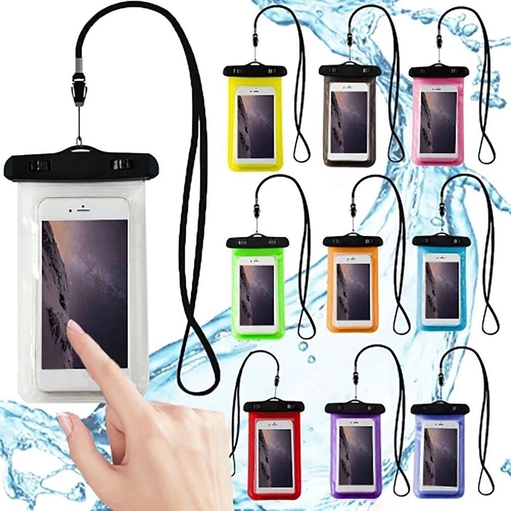 Funda de teléfono impermeable con pantalla táctil para teléfono móvil bolsa de buceo seco con correa para el cuello para iPhone Xiaomi Samsung Meizu