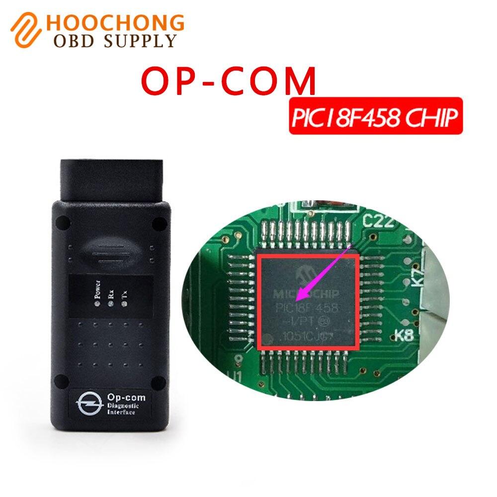 2017 COMOP diagnóstico Profissional-ferramenta V2014 OP-COM OPCOM com PIC18F458 chip V1.59 Auto Scanner