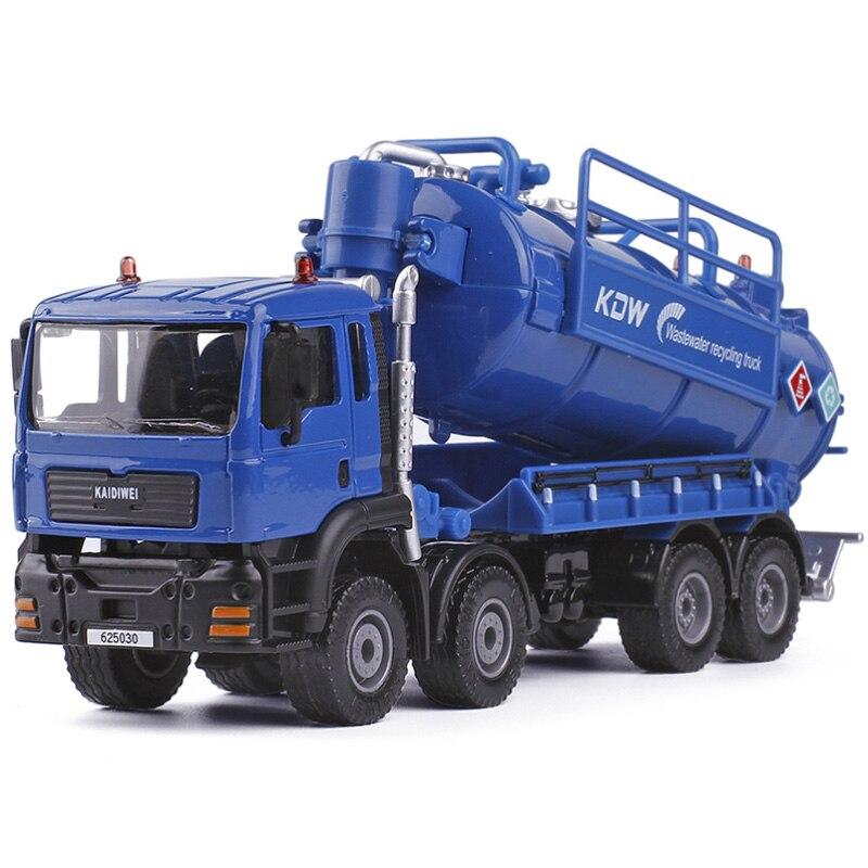 Сплав сточных вод транспорт сбор грузовик, инженерный транспорт литье под давлением KDW 150 Simulaion бак для мусора хранения воды детские игрушки