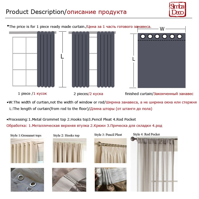 Купить с кэшбэком Modern Solid Faux Linen Curtains for Living Room  Plain Drapes Shade for Bedroom Window Treatments Single Panel Decorative Green