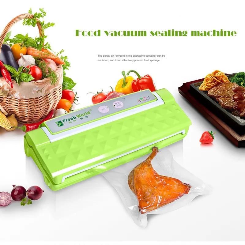 Machine de scellage sous vide automatique, 110W, multifonction, pour aliments, miniature, ménage