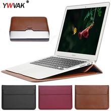 PU cuir courrier sac à manches sac étui support pour Macbook Air Pro Retina 11 12 13 15 ordinateur portable housse dordinateur portable pour Mac book 13.3 pouces
