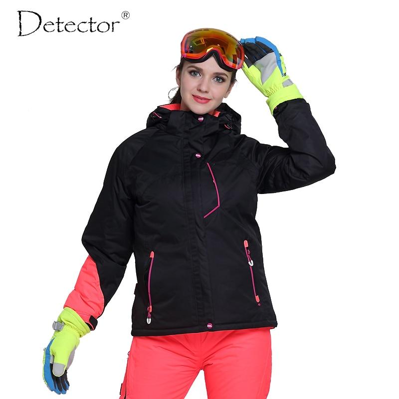detector women s winter ski snowboard jacket waterproof windproof coat outdoor ski clothing women warm clothes Detector Women Ski Jacket Outdoor Winter Ski Clothing Womens Waterproof Windproof Snowboard Coat
