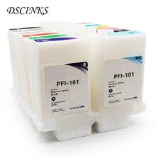 12 stks 130 ml PFI-101 Printer Navulbare Inkt Cartridge voor Canon IPF5000 IPF 5000 IPF-5000 Plotter met Chip PFI101 PFI 101