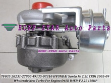 Envío Gratis TF035 28231-27800, 2823127800, 49135-07302, 49135-07300, 49135-07100 Turbo para HYUNDAI Santa Fe 05-D4EB D4EB-V 2.2L sobre las