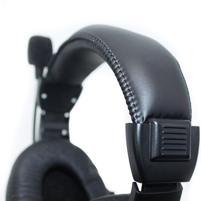 Auriculares con cable de 3,5mm con micrófono, auricular de negocios, micrófono para ordenador, Juegos de PC estéreo, HSJ-19 de Skype