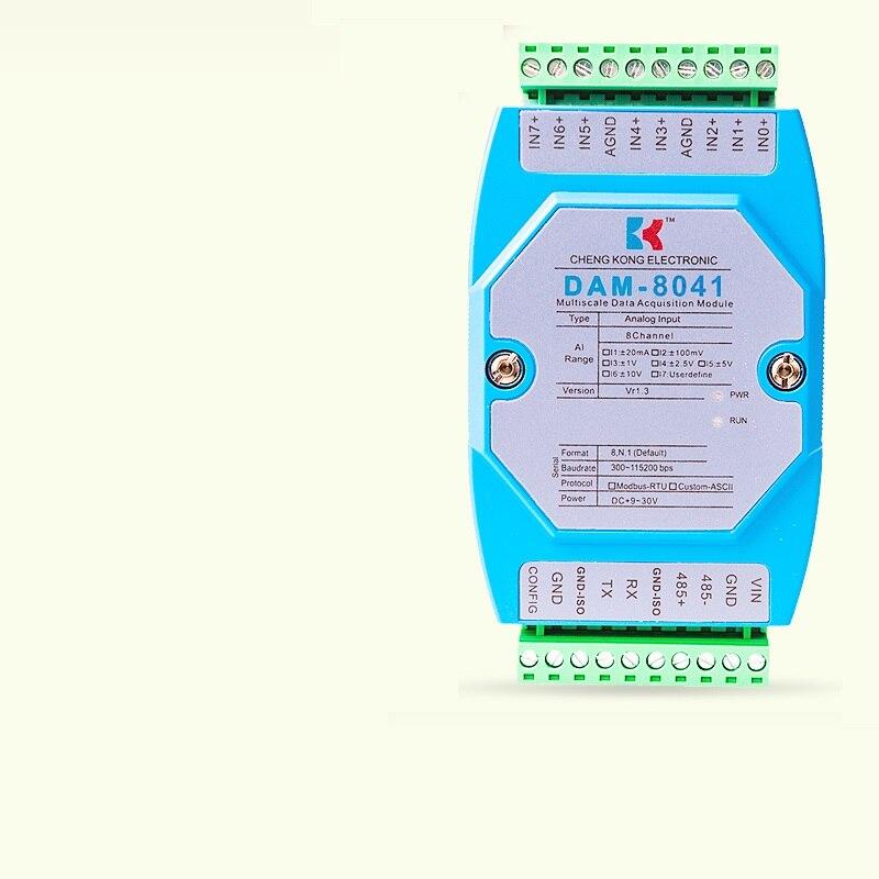 وحدة الإدخال التناظرية عالية الدقة Modbus protocol DAM-232 ، 4-20mA إلى rs485/8041