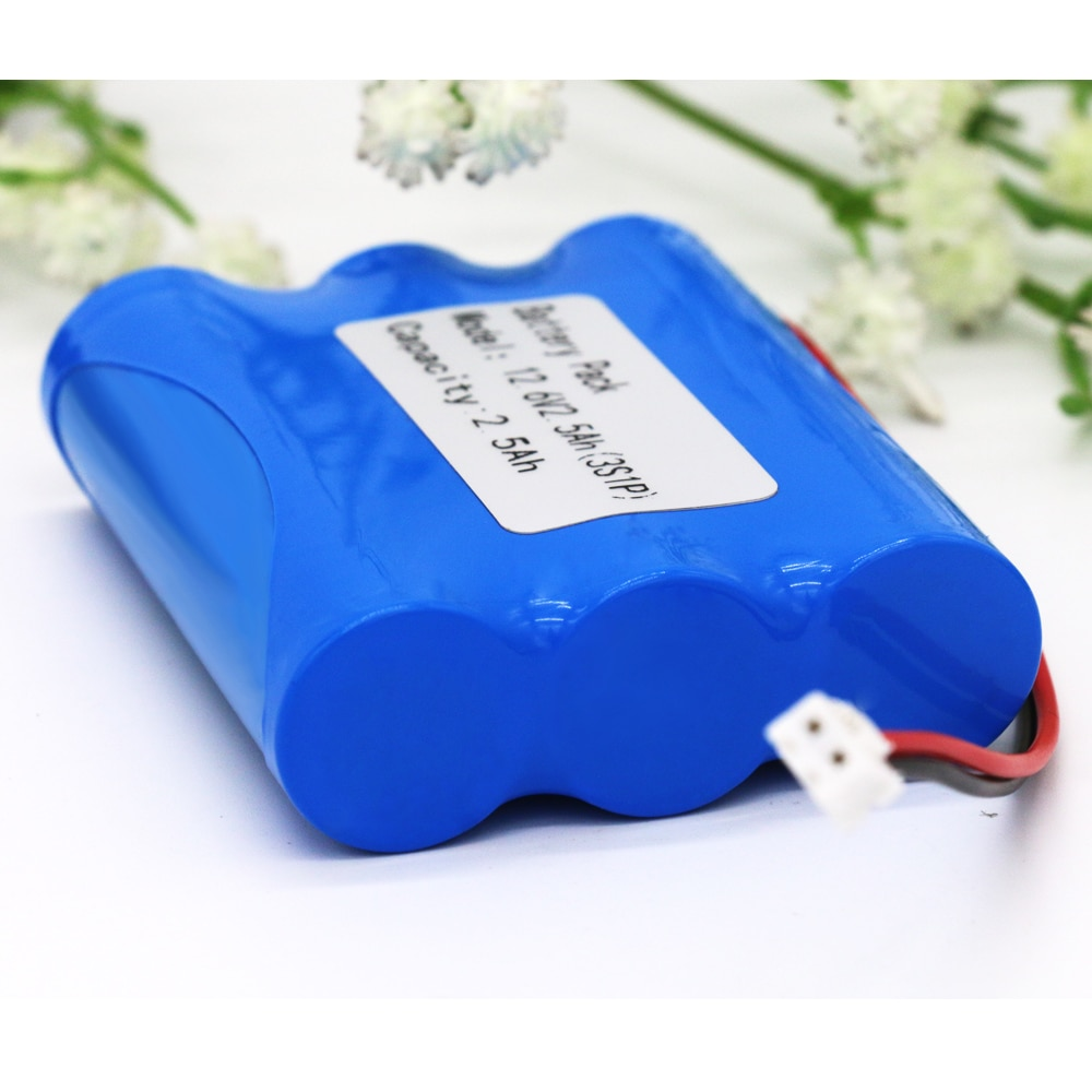 KLUOSI batería de 12V 3S1P 12,6 V/11,1 V 2500mAh 18650 batería de iones de litio con 5A BMS para energía de respaldo Ups CCTV Camerar Etc.