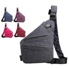 Unisex Anti-Theft Male Chest Bag Men Hidden Shoulder Messenger Bag Outdoor Retro Crossbody Bag Cool Sling Sport Bag