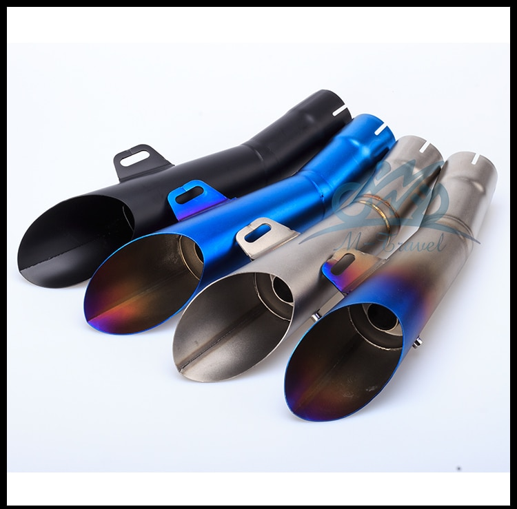 Silenciador de tubo de escape de acero inoxidable para motocicleta GP HP Slip-On para R6 con silenciador DB killer R6 tubo de escape R6