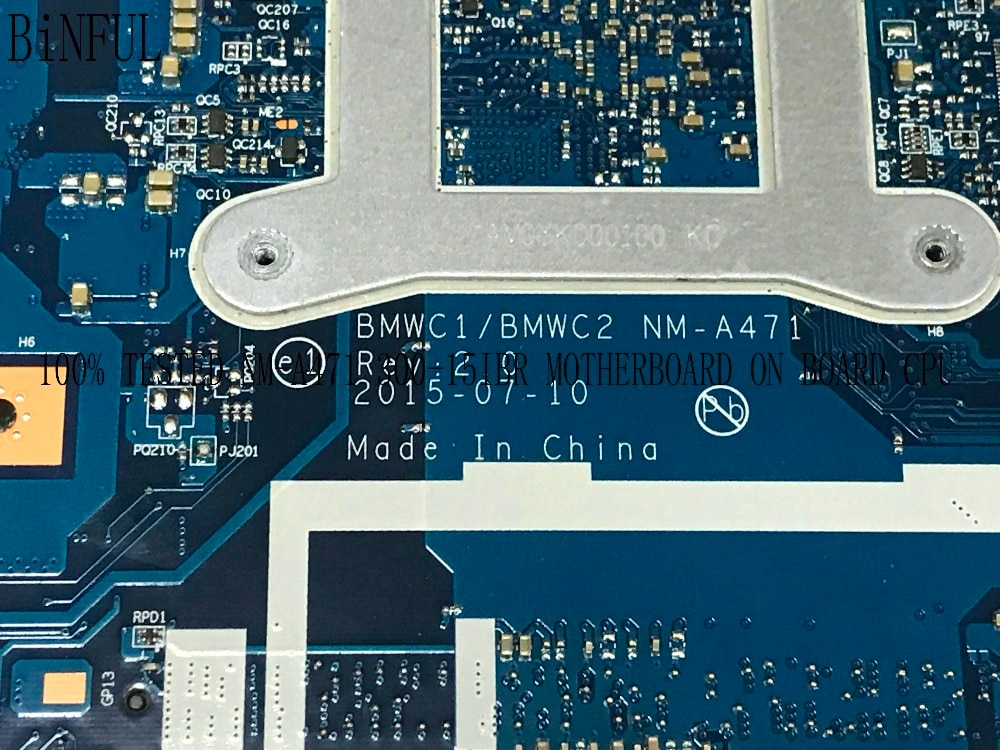الشحن السريع العلامة التجارية الجديدة BMWC1/BMWC2 NM-A471 اللوحة الأم لأجهزة الكمبيوتر المحمول لينوفو 300-14IBR دفتر وحدة المعالجة المركزية N3060 يرجى مقا...