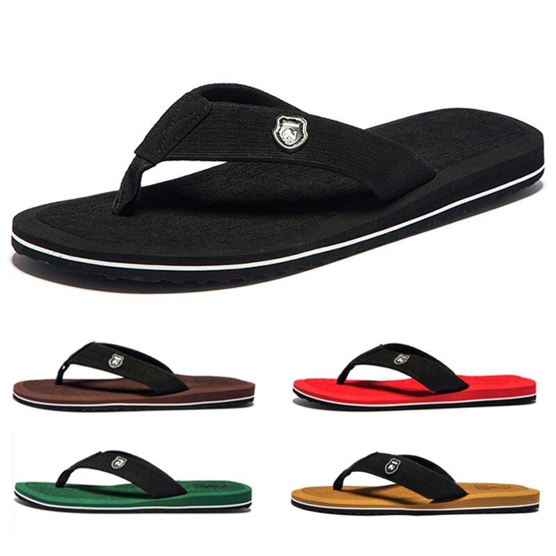 3/Pairs Summer Men Flip Flops Top EVA Beach Sandals Shoes Man Non-slip Male Slippers Comfortable Men Casual Shoes Big Size 50