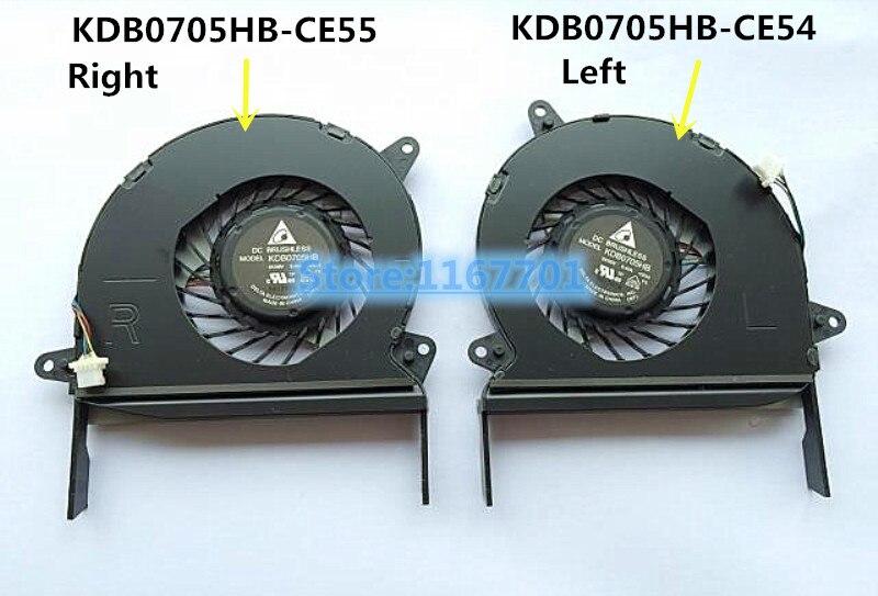 جديد الأصلي كمبيوتر محمول/محمول وحدة المعالجة المركزية مروحة تبريد ل ASUS zenbook U500 UX51 UX51V UX51VZ U51VZ KDB0705HB-CE55 KDB0705HB-CE54