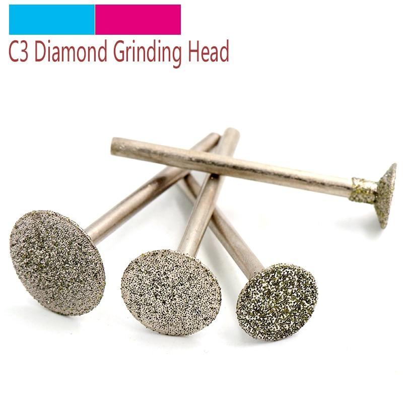 5 pçs 2.35/3mm haste de diamante rebarbas para pedra vidro cerâmica jade escultura ágata esmeralda escultura ferramenta c2 agulha