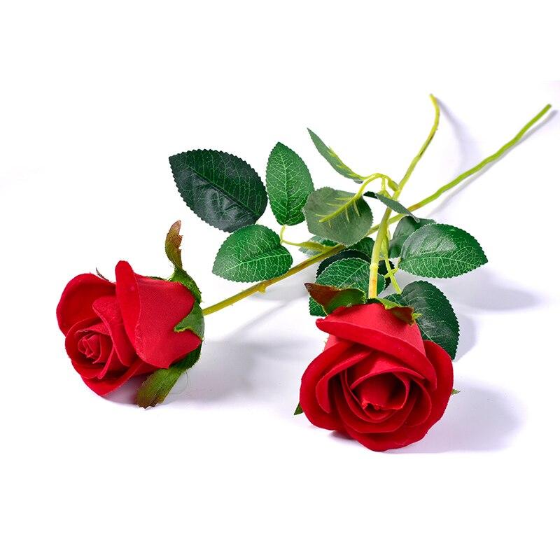 Ramo de rosas rojas artificiales para boda o boda, boda, Día de San Valentín o cumpleaños, accesorio para trucos de magia, decoración del hogar