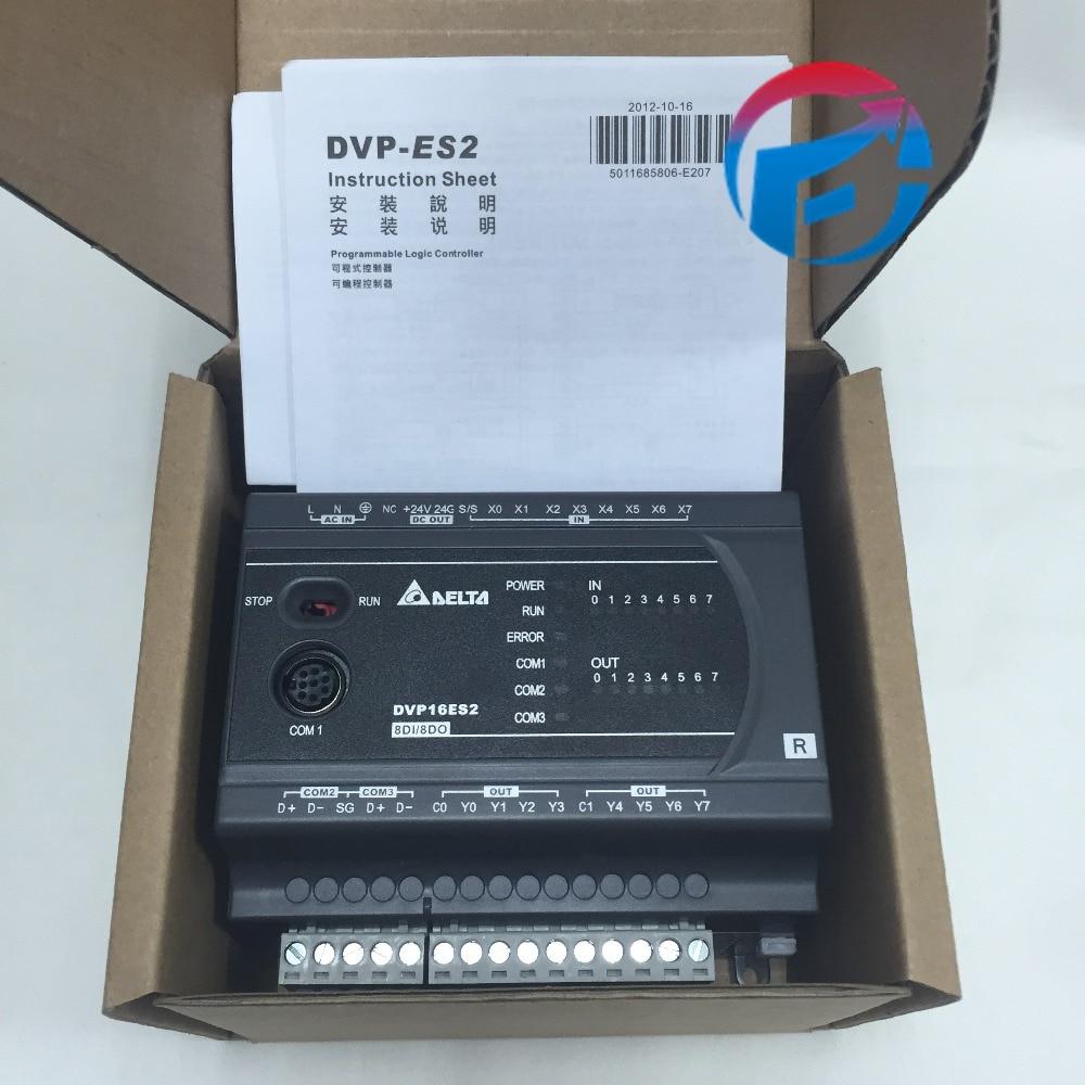 Controlador programável novo e original da lógica do plc es2 do delta dvp16es200r delta